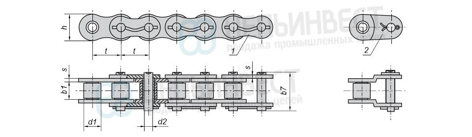 Цепи приводные роликовые повышенной точности и прочности (нефтяные) однорядные ГОСТ 21834-87