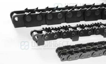 Роликовые цепи с зубчатыми пластинами (Sharp top chains)