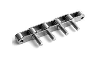 Конвейерные (двухшаговые) цепи с выступающими валиками
