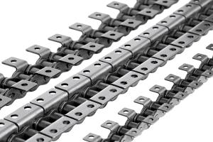 Роликовые цепи с прикреплениями