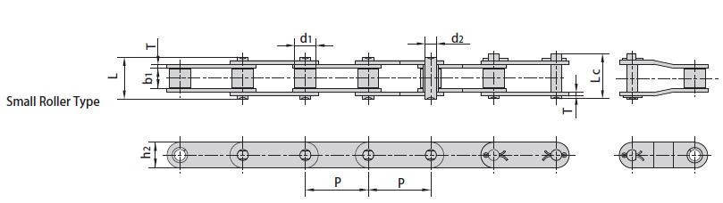 Конвейерные (двухшаговые) цепи