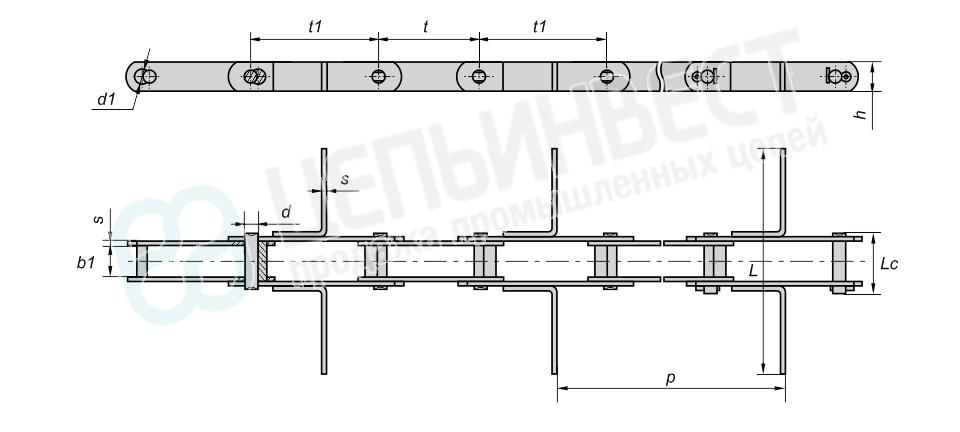 Цепи к скребковым конвейерам типа ТСЦ и К4-УТФ