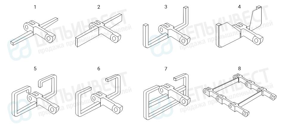 Цепи тяговые вильчатые ГОСТ 12996-90 виды моделей
