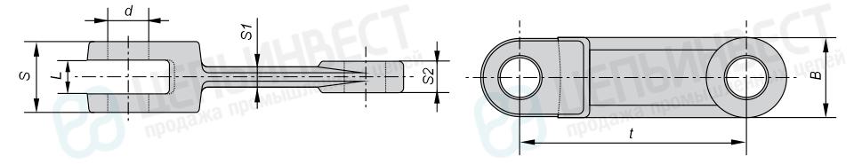 Цепи тяговые вильчатые ГОСТ 12996-90
