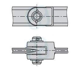 Цепь тяговая вильчатая разборная, с фиксацией пальца проволочным шплинтом (Р1) ГОСТ 12996-90