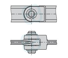 Цепь тяговая вильчатая разборная, с фиксацией пальца сжимной стопорной шайбой (Р2) ГОСТ 12996-90
