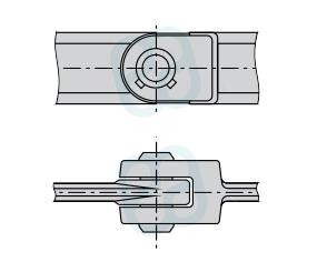 Цепь тяговая вильчатая легкоразборная, с фиксацией пальца штифтом-шпонкой (Р3) ГОСТ 12996-90