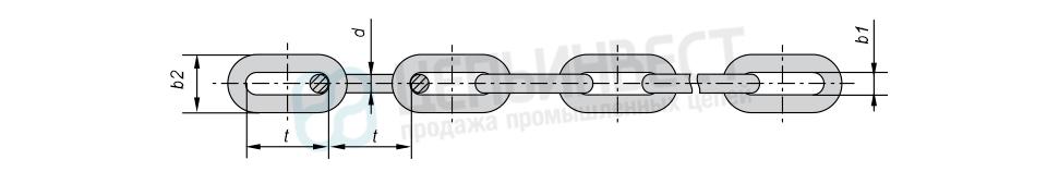 Цепи стальные длиннозвенные оцинкованные DIN 763