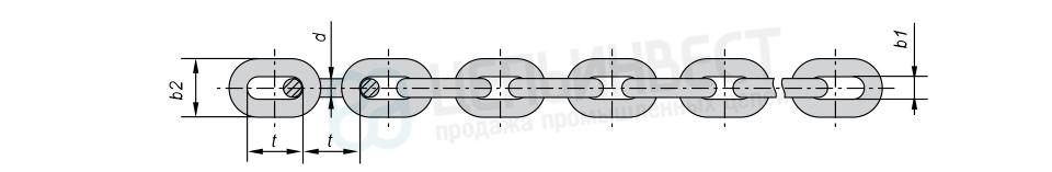 Цепи стальные короткозвенные оцинкованные DIN 766